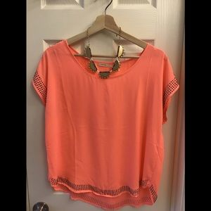 Pink/salmon Blouse with Metal Stud Embelishment